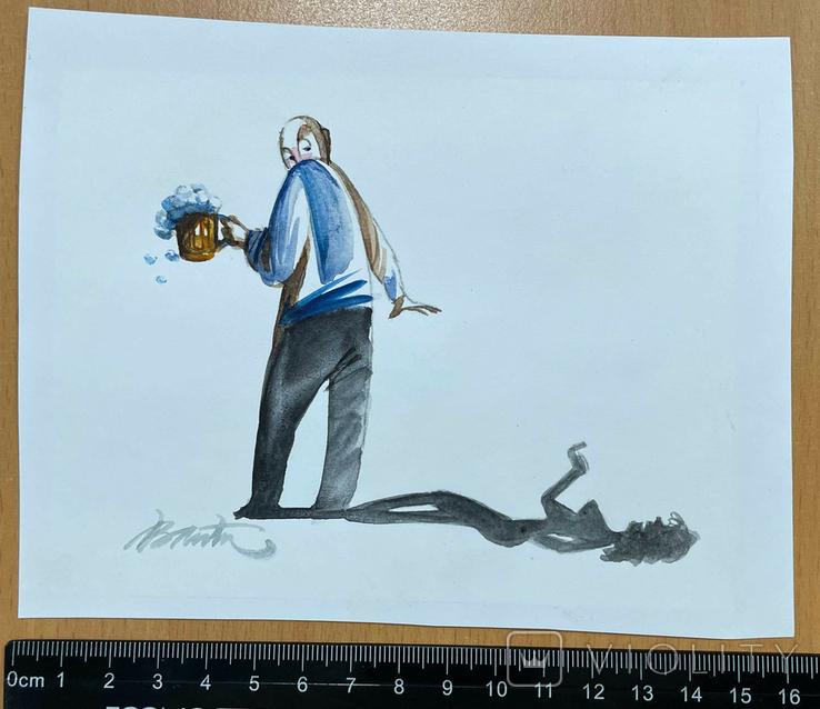 """Карикатура М.С. Рябинина """"Тень"""", фото №3"""