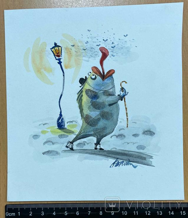 """Карикатура М.С. Рябинина """"Рыба"""", фото №3"""