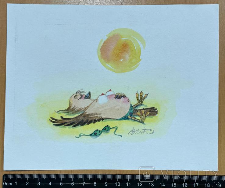 """Карикатура М.С. Рябинина """"Я на солнышке лежу"""", фото №3"""