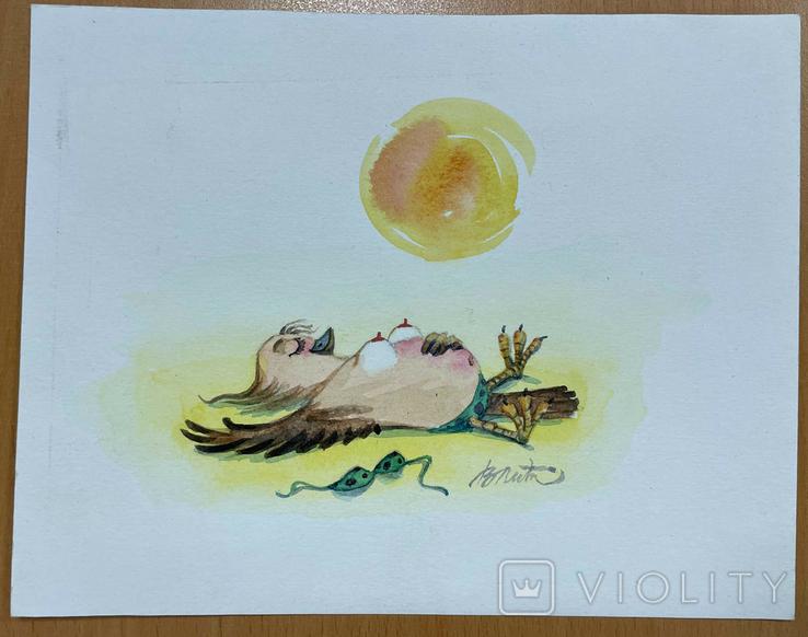 """Карикатура М.С. Рябинина """"Я на солнышке лежу"""", фото №2"""