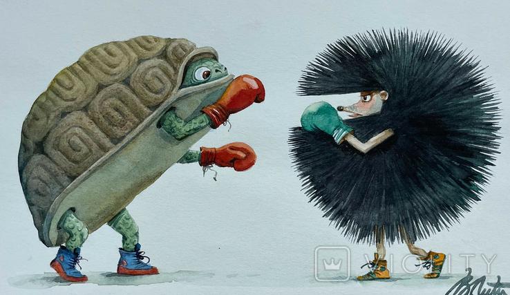 "Карикатура М.С. Рябинина ""Бокс"", фото №3"