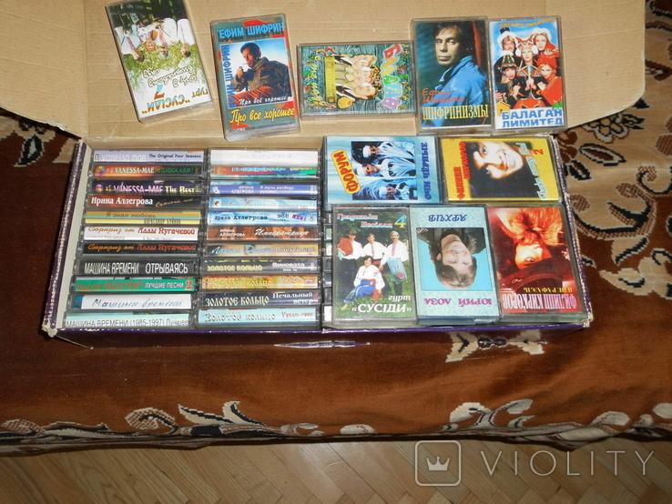 Аудиокассеты с записями 1990-2010гг. 54 шт