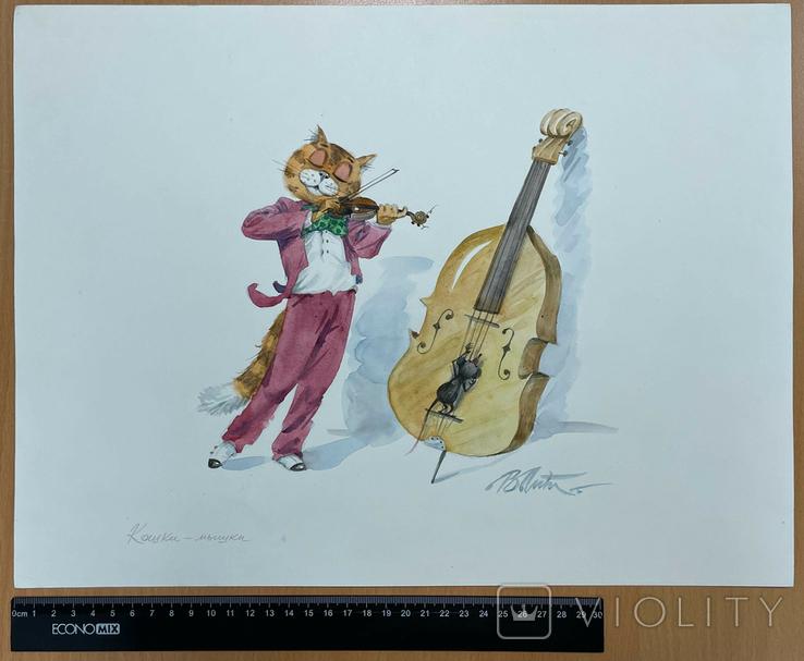 "Карикатура М.С. Рябинина ""Скрипач"", фото №3"