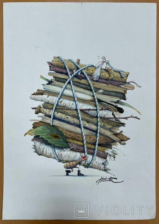 "Карикатура М.С. Рябинина ""Муравей"", фото №2"