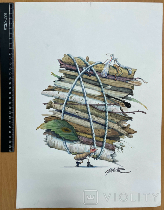 "Карикатура М.С. Рябинина ""Муравей"", фото №3"