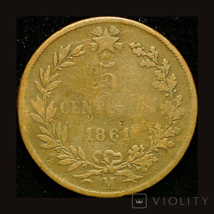 Италия 5 чентезими 1861 М, фото №3