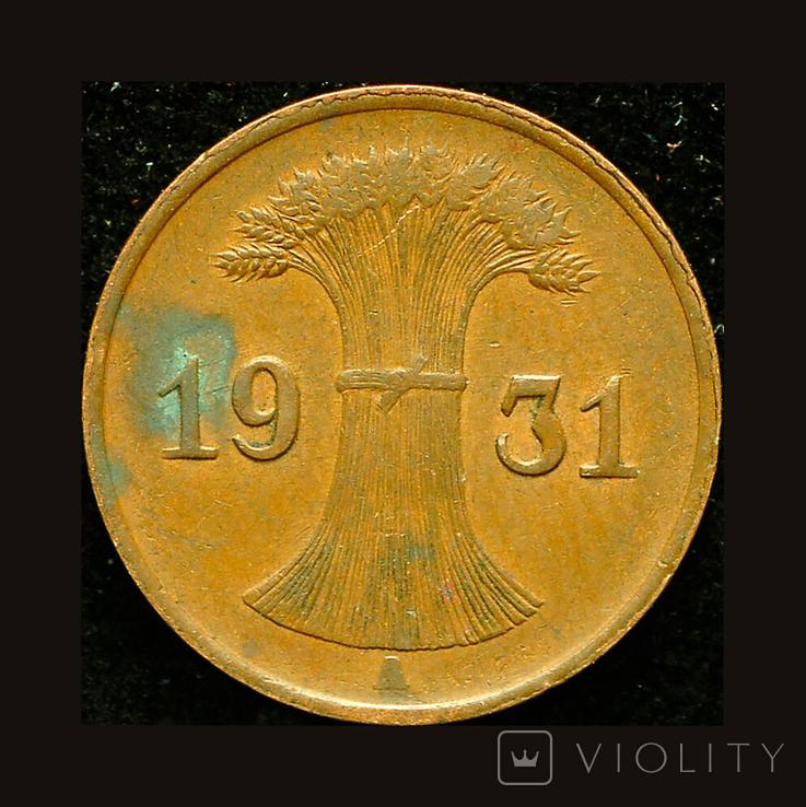 Германия 1 пфенниг 1931, фото №3