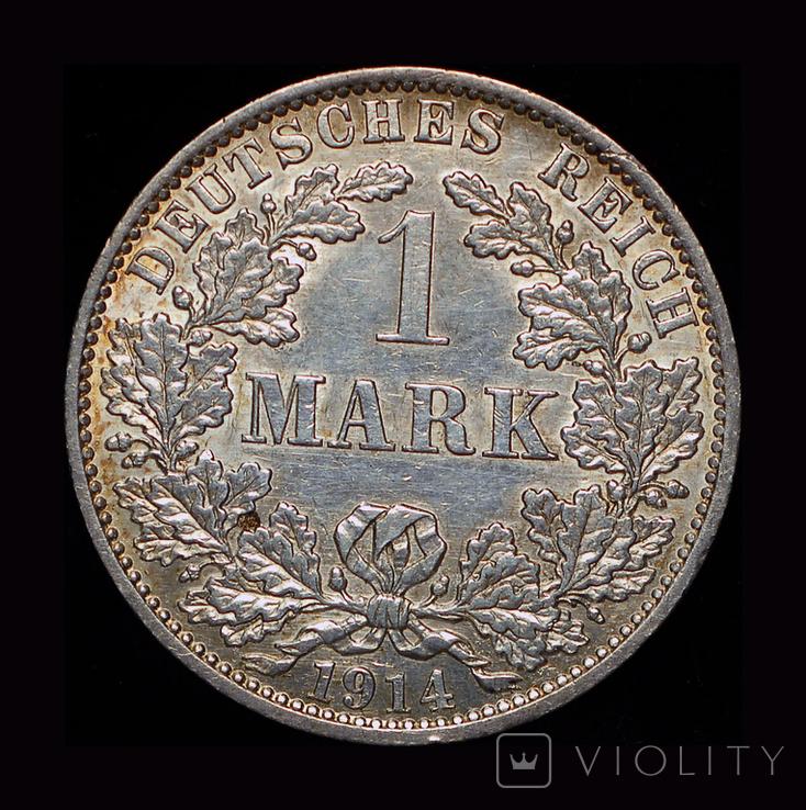 Германия 1 марка 1914 серебро, фото №2