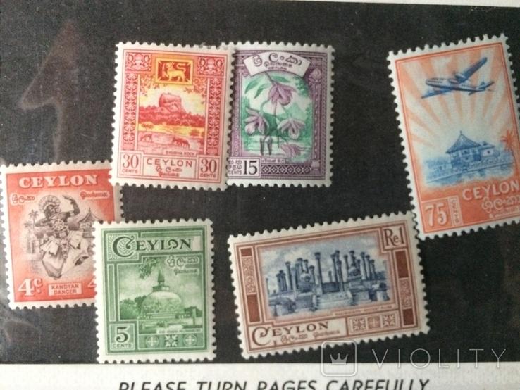 Цейлон - чиста повна серія з 5 марок 1950 р. CV13 евр