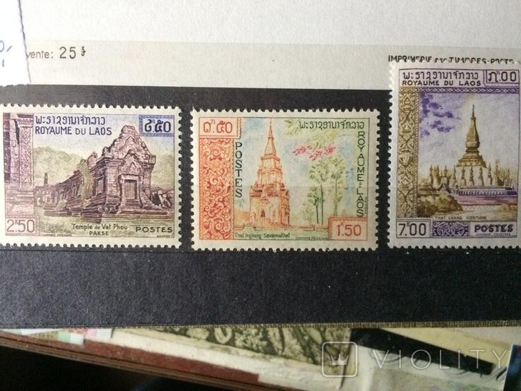 Лаос 1959 р. Буддійські храми CV3 евр