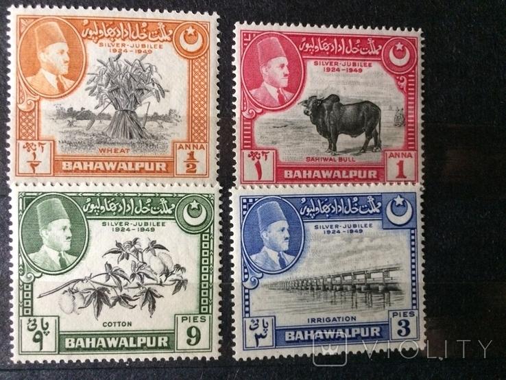 Брит.Індія - Багавальпур 4 марки 40 грн