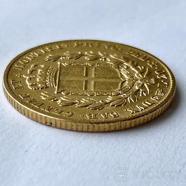 20 лир. 1834. Карл Альберт. Сардиния (золото 900, вес 6,40 г), фото №9