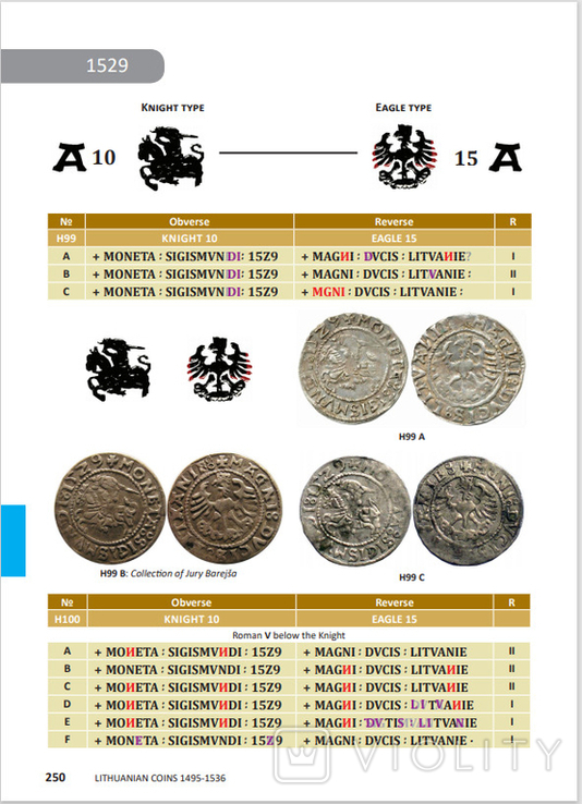 Каталог монет ВКЛ Lithuanian Coins 1495-1536, фото №8