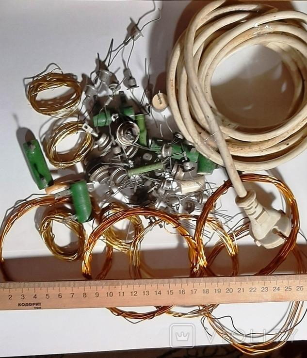 Радиодетали,провода -одним лотом.№72.+*, фото №2