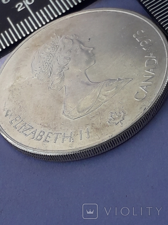 5 долларов, Канада, 1973 г., Олимпийские игры, карта Канады, серебро 0.925, 24.3 грамма, фото №3