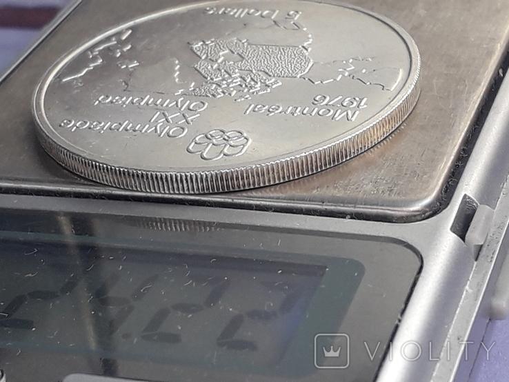 5 долларов, Канада, 1973 г., Олимпийские игры, карта Канады, серебро 0.925, 24.3 грамма, фото №5