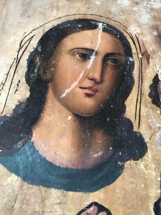 Икона на дереве под оклад, фото №3