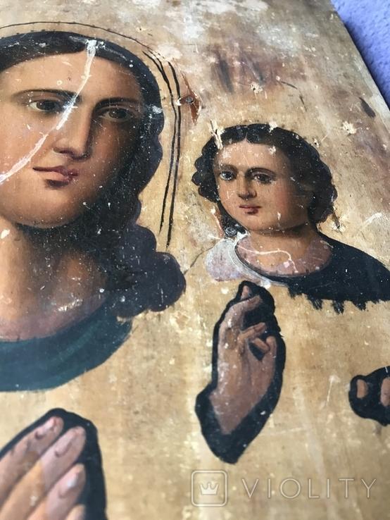 Икона на дереве под оклад, фото №4