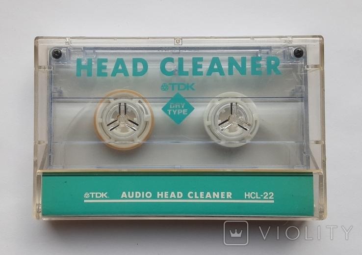 TDK Audio head cleaner HCL-22 (кассета для чистки магнитофонных головок), фото №2