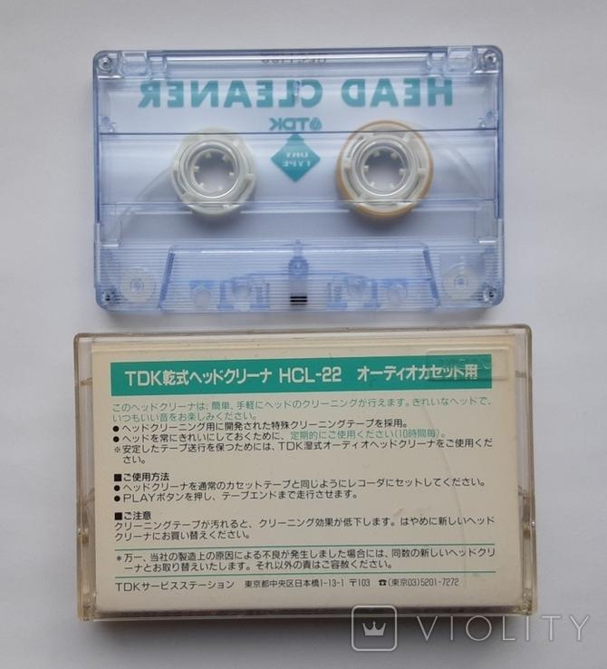 TDK Audio head cleaner HCL-22 (кассета для чистки магнитофонных головок), фото №4