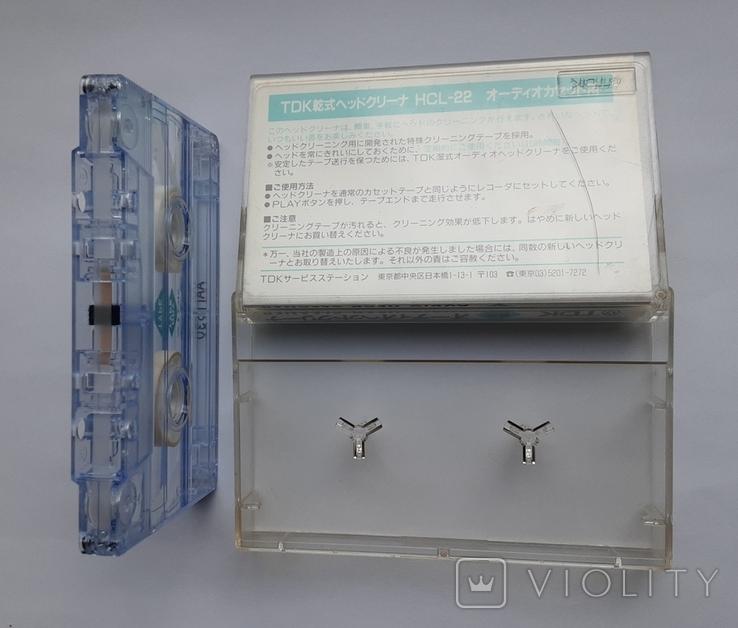 TDK Audio head cleaner HCL-22 (кассета для чистки магнитофонных головок), фото №6