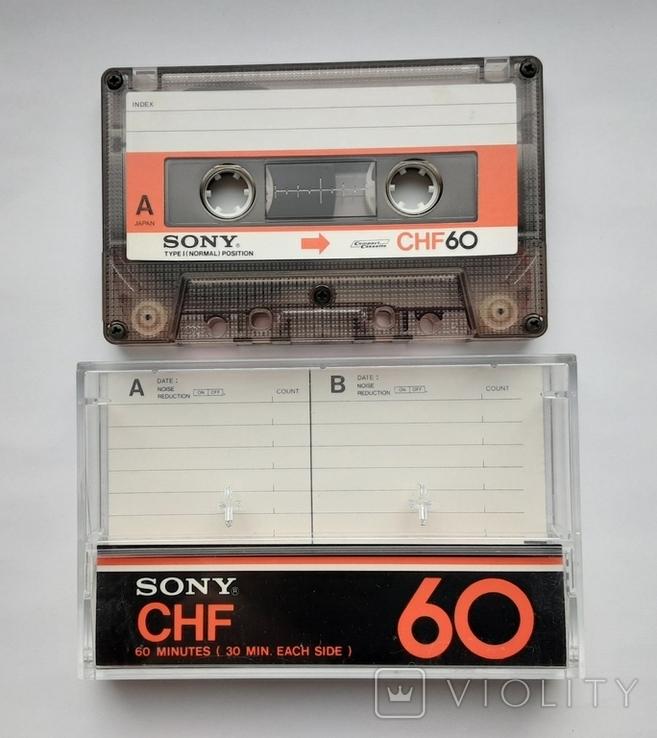 Аудиокассета SONY CHF 60 (Jap), фото №3