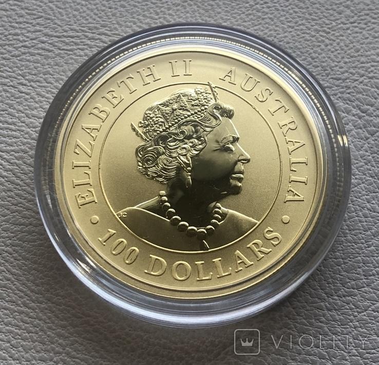 100 2021 год Австралия Золото 31,1 грамм 999,9, фото №3