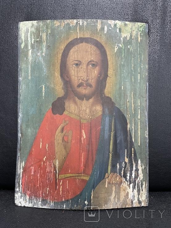 Старинная икона Иисус Христос Вседержитель, фото №2