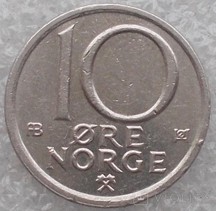 10 Эре 1977 г. Норвегия, фото №2