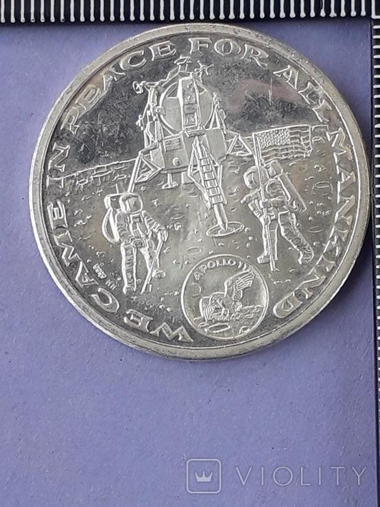 Раунд в честь миссии Аполлон-11, высадки человека на Луну, серебро 0.999, 15 грамм, фото №6