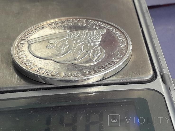 Раунд в честь миссии Аполлон-11, высадки человека на Луну, серебро 0.999, 15 грамм, фото №10