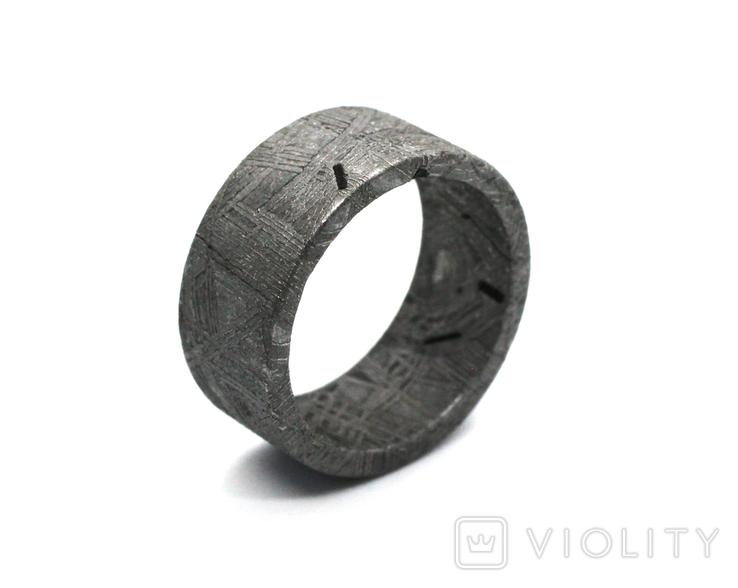Каблучка із залізного метеорита Muonionalusta N3, з сертифікатом автентичності, фото №5