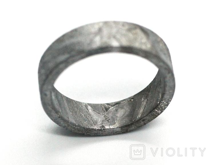 Каблучка із залізного метеорита Muonionalusta N5, з сертифікатом автентичності, фото №13