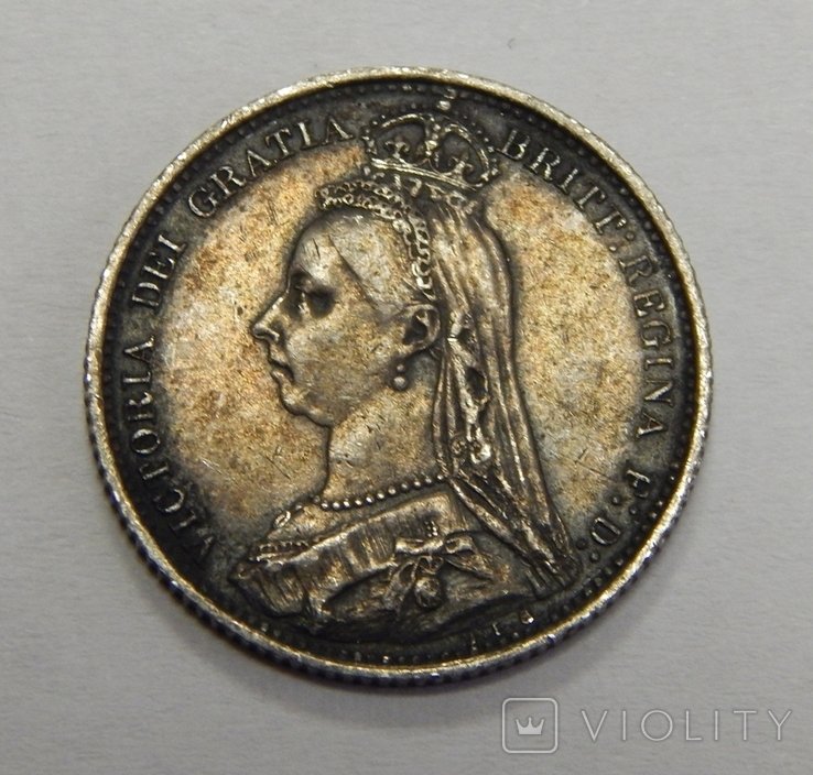 6 пенсов, 1887 г Великобритания, фото №3
