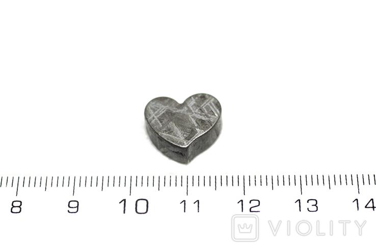 Залізній метеорит Muonionalusta, форма серця, 5,3 грам, сертифікат автентичності, фото №4