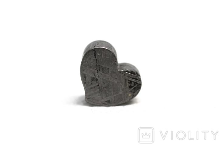 Залізній метеорит Muonionalusta, форма серця, 5,3 грам, сертифікат автентичності, фото №11