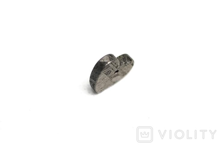 Залізній метеорит Muonionalusta, форма серця, 2.1 грам, сертифікат автентичності, фото №7