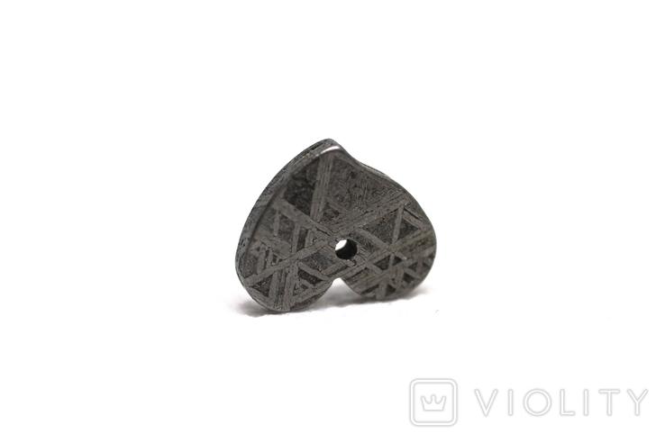 Залізній метеорит Muonionalusta, форма серця, 2.1 грам, сертифікат автентичності, фото №10