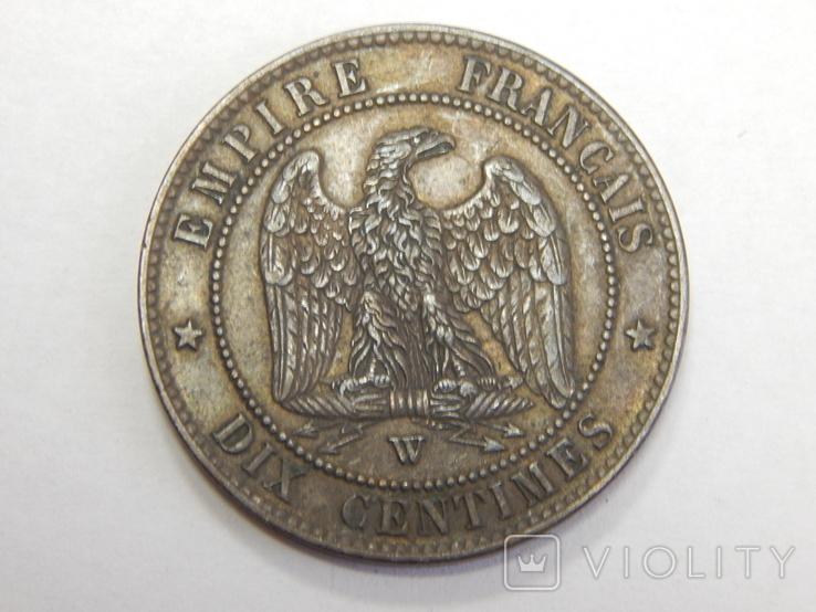 10 центимес, 1856 W Франция, фото №2