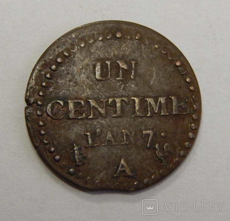 1 центиме, Франция, фото №2