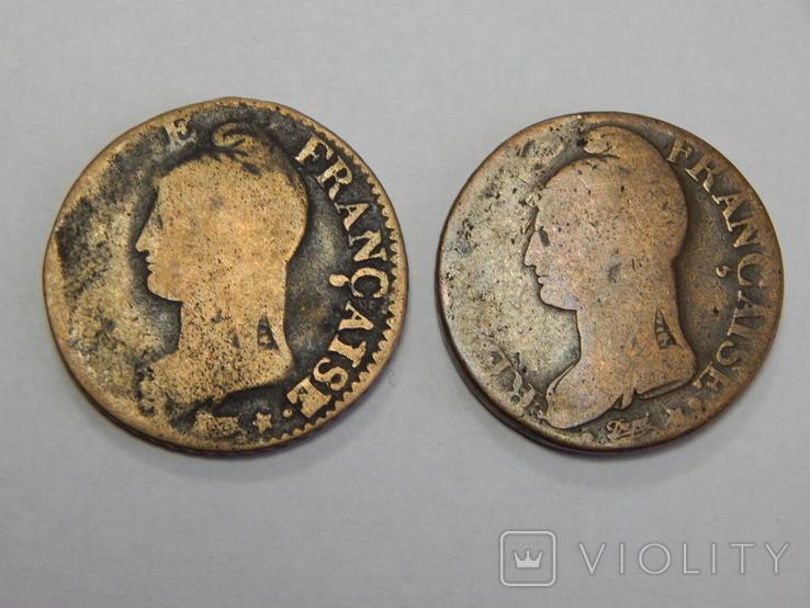 2 монеты по 5 центимес, Франция, фото №3