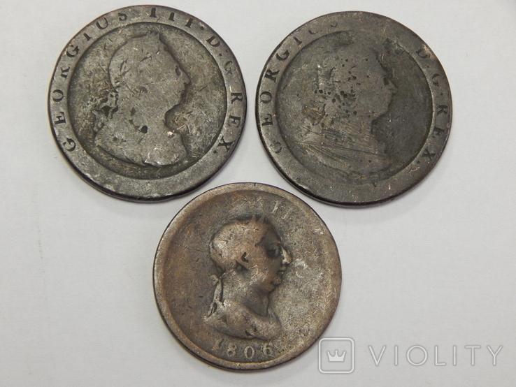 3 монеты по 1/2 пенни, Великобритания, фото №2