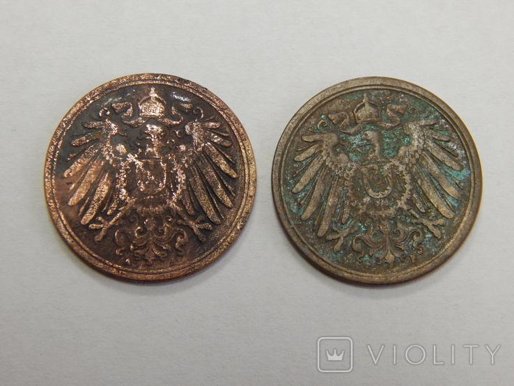 2 монеты по 1 пфеннигу, Германия, фото №3