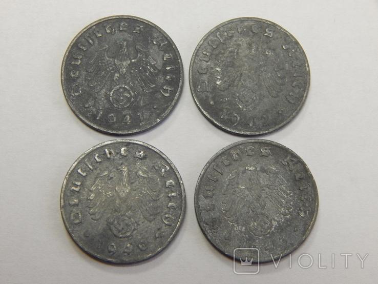 4 монеты по 1 рейхспфеннигу, Третий Рейх, фото №3
