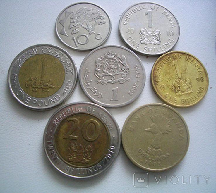 Монеты стран Африки, 7 штук, фото №2