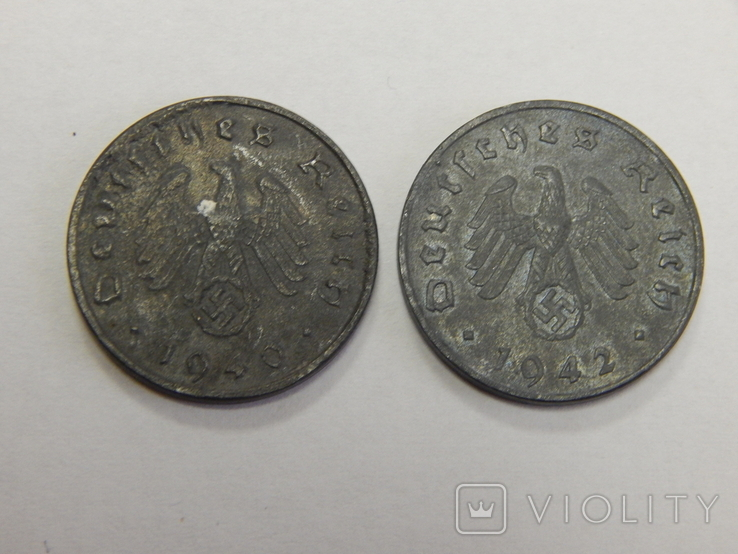 2 монеты по 10 рейхспфеннигов, Третий Рейх, фото №3