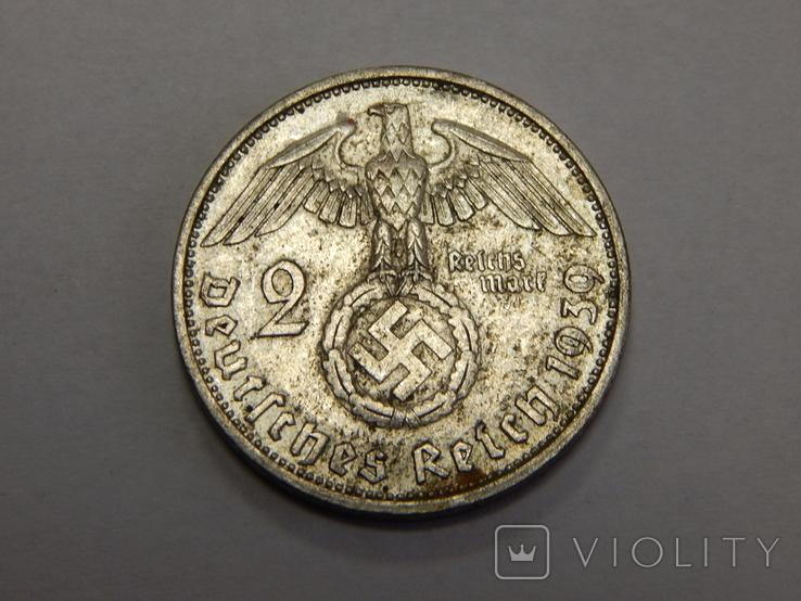 2 рейхсмарки, 1939 А Третий Рейх, фото №2