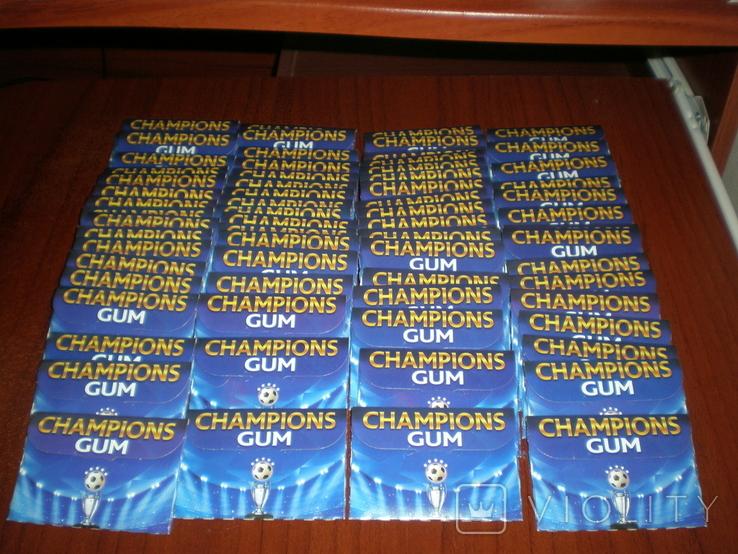 Жвачка Champions Gum 69 шт. Изготовлено 03.2016 годен до 03.2018. В коллекцию., фото №2