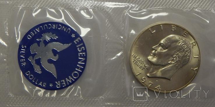 1 доллар, 1974 г США, фото №3