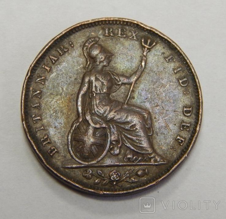 1 фартинг, 1826 г Великобритания, фото №2
